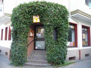 Ort des Geschehens: Das Café PAPE in Essen-Holsterhausen. Fotos: Grimm