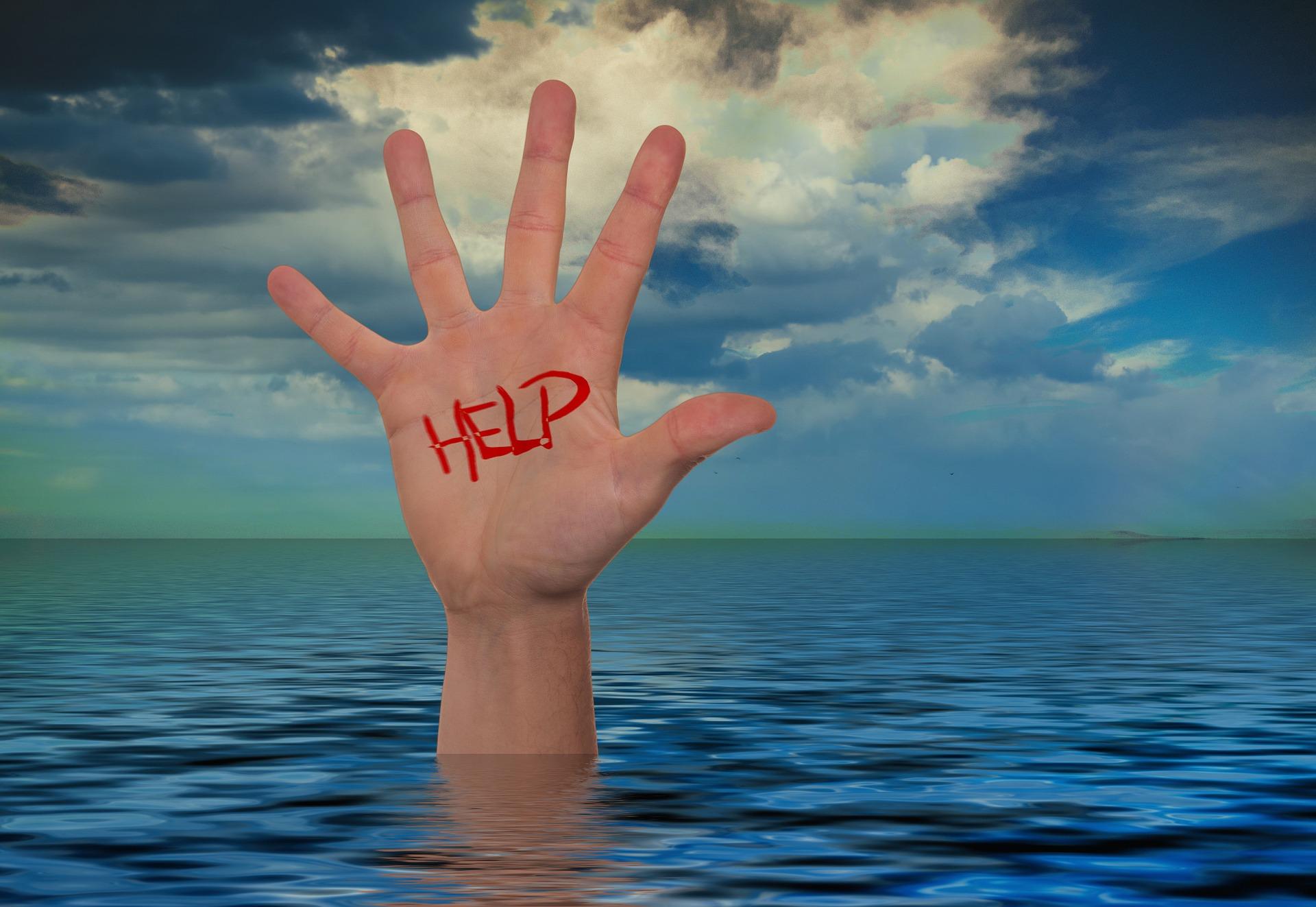 Wellen der Angst  – zieh`n mich hinab.  Foto: Pixabay
